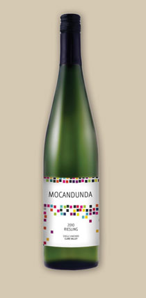 Mocandunda riesling wine label